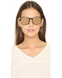 3.1 Phillip Lim - Brown Rounded Mirrored Sunglasses - Lyst