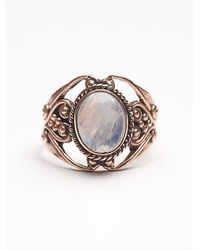 Free People | Metallic Tiger Mountain Womens Moonstone Engraved Ring | Lyst