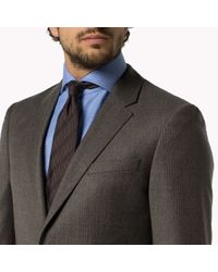 Tommy Hilfiger | Brown Wool Blend Fitted Suit for Men | Lyst