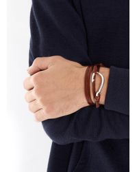 Miansai | Brown Burgundy Leather Wrap Bracelet for Men | Lyst