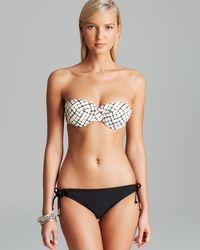 Ella Moss Black Veranda Molded Underwire Bandeau Bikini Top