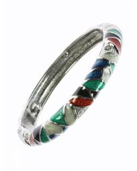 Indulgence Jewellery - Multicolor Multi Colour Round Bangle - Lyst