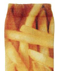 ASOS - Orange Chips Printed Ankle Socks - Lyst
