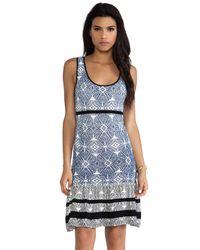 Shae | Blue Drop Waist Dress | Lyst