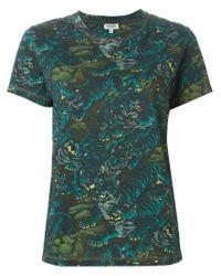 KENZO - Green 'flying Tiger' T-shirt - Lyst