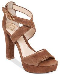 Vince Camuto Brown Shayla Platform Sandals