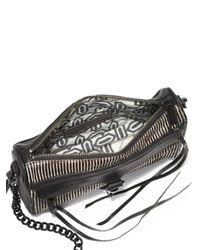 Rebecca Minkoff - Black Striped Calf Hair Mini Mac Shoulder Bag - Lyst