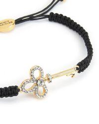 Juicy Couture | Black Pave Key Friendship Bracelet | Lyst