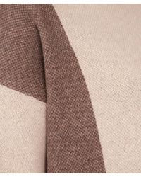 Vince - Brown Camel Colourblock Boatbeck Wool-cashmere Knit Jumper - Lyst