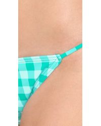 Juicy Couture Green Gingham Style Bikini Bottoms