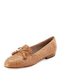 Sesto Meucci - Natural Nicole Woven Leather Loafer - Lyst