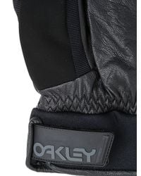 Oakley - Black Factory Leather & Nylon Trigger Mittens - Lyst