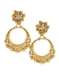 Jose & Maria Barrera - Blue Glittering Golden Star Clip Earrings - Lyst