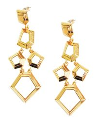 Lele Sadoughi | Metallic Faceted Chip Chandelier Earrings | Lyst