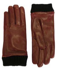DIESEL - Brown 'giribbes' Gloves - Lyst