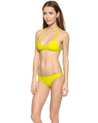 Mikoh Swimwear | Yellow Uluwatu Bikini Top - Night | Lyst