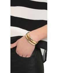 Elizabeth and James - Metallic Abbott Cuff Bracelet - Lyst