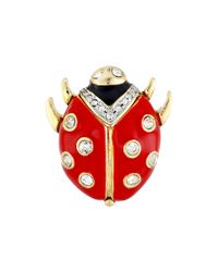 Kenneth Jay Lane - Red Ladybug Pin - Lyst