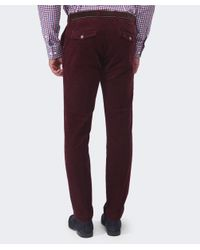 Hackett | Purple Ashby Corduroy Trousers for Men | Lyst