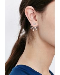 Urban Outfitters - Metallic All Ice Front/back Earring - Lyst