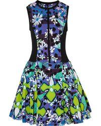 Peter Pilotto | Green Printed Stretchmatelassé Dress | Lyst