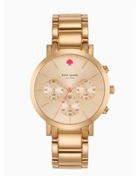 kate spade new york | Pink Gramercy Grand Chronograph | Lyst
