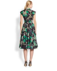 Mary Katrantzou | Green Calway Flare Dress | Lyst