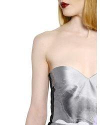 MSGM Multicolor Strapless Printed Techno Duchesse Dress