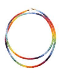 Peppercotton Orange Rainbow Necklace