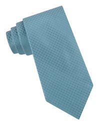 MICHAEL Michael Kors | Blue Woven Link Silk Tie for Men | Lyst