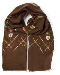 Dolce & Gabbana - Brown Printed Scarf for Men - Lyst