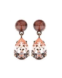 Givenchy | Pink Embellished Earrings | Lyst