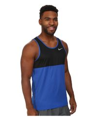Nike | Black Racer Singlet for Men | Lyst