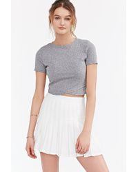 Silence + Noise | Gray Crossing Over Cropped Top | Lyst