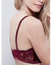 Free People | Purple Intimately Womens Light & Shadow Velvet Underwire Bra | Lyst