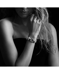 David Yurman | Metallic Buckle Single-row Bracelet With Diamonds | Lyst