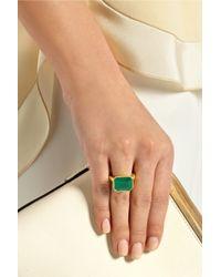 Pippa Small Green 18-Karat Gold Emerald Ring