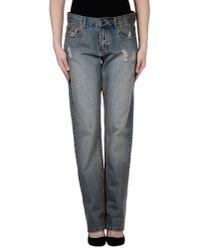 RVCA - Blue Denim Pants - Lyst
