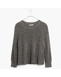 Madewell - Gray Marled Swing Crop Sweater - Lyst