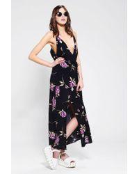 Reformation - Purple Citrine Maxi Dress - Lyst