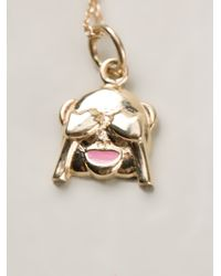 Alison Lou - Metallic See No Evil Necklace - Lyst