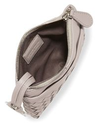 Bottega Veneta - Natural Zip-Top Woven Leather Key Pouch - Lyst