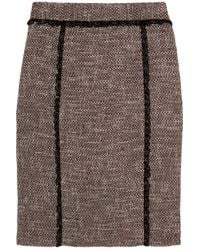 RED Valentino Pink Cotton Blend Tweed Pencil Skirt