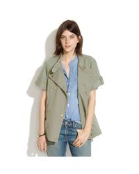 Madewell Green Sahara Shortsleeve Jacket