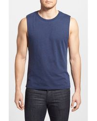 Gents | Blue Crewneck Tank for Men | Lyst