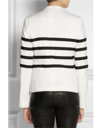 Each x Other White Striped Wool Blazer