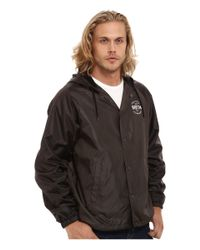 Brixton - Gray Cane Windbreaker Jacket for Men - Lyst