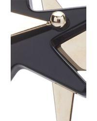 Marni - Black Triple Star Earrings - Lyst