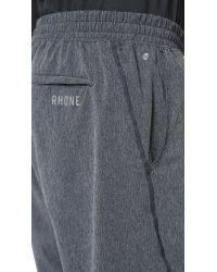 Rhone | Gray Bullitt Slub Active Shorts for Men | Lyst