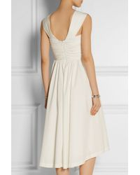 Lela Rose - Pink Pleated Stretch-Cotton Poplin Dress - Lyst